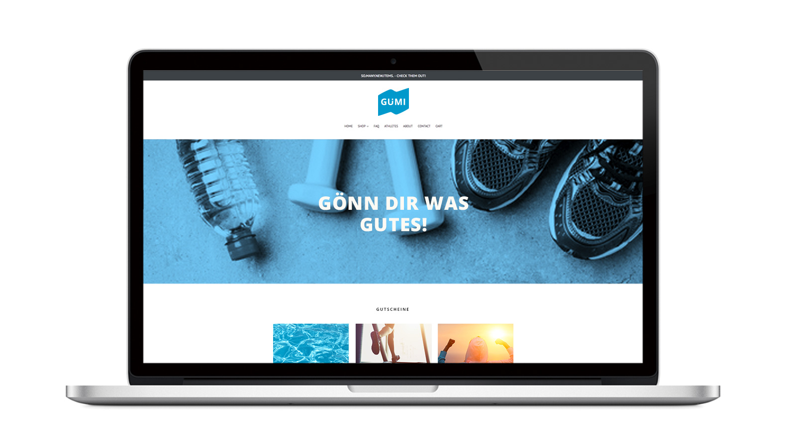 GÜMI Website responsive shop